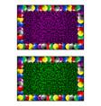 frame - colorful christmas balls vector image