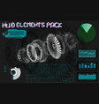 futuristic user interface elements set jet 3d vector image vector image