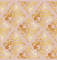 golden damask pattern seamless background with vector image
