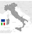 grey political map italy vector image