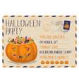halloween party vintage postcard invitation vector image vector image