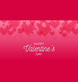 horizontal valentines hearts bokeh background vector image
