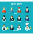 hotel staff vector image vector image