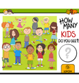 how many kids activity game vector image vector image
