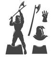 medieval executioner emblem vector image vector image