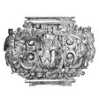 milanese candelabrum roman sphinx is bust vector image vector image
