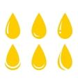 Oil drop set vector image