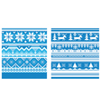 ornament knitted blue vector image vector image