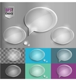 Oval glass speech bubble icons with soft shadow on vector image vector image