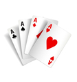 Playing cards isolated on white vector image vector image