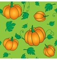 Pumpkins seamless pattern vector image
