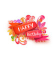 quilling composition of happy birthday vector image