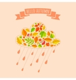 Rain cloud from fall leaves vector image