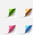 realistic paper curlud corner set vector image vector image