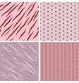 Retro Patterned Background Set vector image vector image