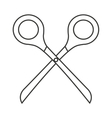 scissor tool isolated icon vector image