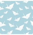 seamless pattern paper origami swan vector image vector image