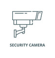 security camera line icon linear concept vector image