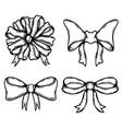 set bow isolated on white background design vector image