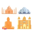 Set Indian Architectural Landmarks vector image vector image
