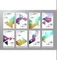 Set of Brochure templates Flyer Designs or vector image vector image