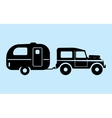 Silhouette camping car vector image vector image