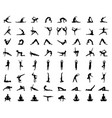 silhouettes yoga and fitness vector image