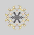 snowflakes pattern snowflakes background flat vector image vector image
