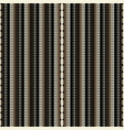 striped black and gold halftone 3d seamless vector image vector image