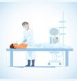 surgeon perform operation on heart cartoon vector image