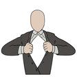 Tearing shirt businessman vector image vector image