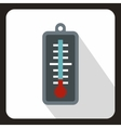 Thermometer icon flat style vector image vector image