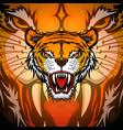 tiger sport mascot logo design vector image
