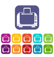 toaster icons set vector image vector image