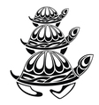 Turtle-style tattoo vector image vector image