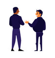 two male security guards standing and talking vector image vector image