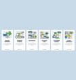 web site onboarding screens online payments vector image vector image