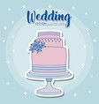 wedding icons design vector image