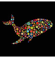 whale shape vector image