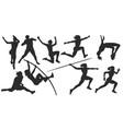 women athletics sport silhouettes vector image vector image