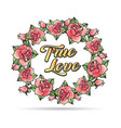 wreath roses tattoo vector image vector image