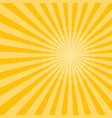 yellow sunbeams halftone background vector image