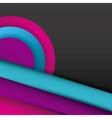 geometric figures paint colors vector image