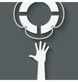 hand with lifebuoy symbol vector image