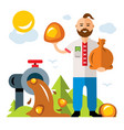 amber extraction in ukraine flat style vector image