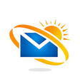 mail message sunny day logo vector image