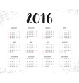2016 Calendar Abstract Week Starts from Sunday