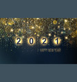 2021 new year abstract shiny color gold luxury vector image