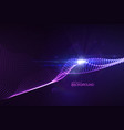 3d glowing neon digital wave of particles vector image vector image