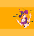 a witch vector image vector image